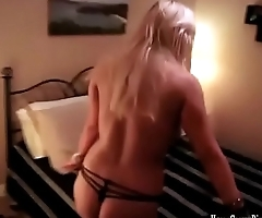 Busty blonde amateur with perfect tits fucks in POV