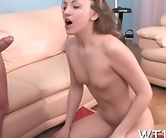 Cute beauty kisses with her boyfriend during the time that fucking with him