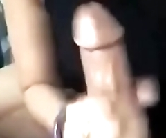 Young girl in glasses giving a great blowjob