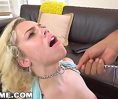 ABUSEME - Teen Kimberly Moss Treated Like The Good Little Bitch She Is