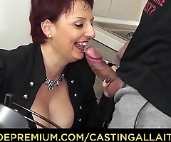 CASTING ALLA ITALIANA - Mature redhead riding big cock in her first porn scene