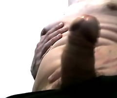 chubby belly and cock play