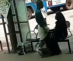 Desi Hand job at Bus Stand Hidden cam