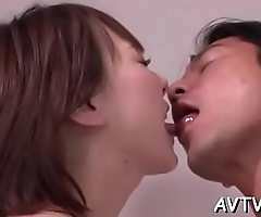 Enjoyable japanese chick delights with sexy fellatio and cowgirl