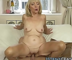 Old granny cum soaked