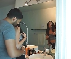 Cheating petite euro cuckolds her boyfriend