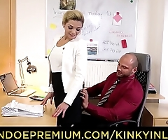 KINKY INLAWS - Taboo office threeway with stepdad and stepdaughter Nicole Love
