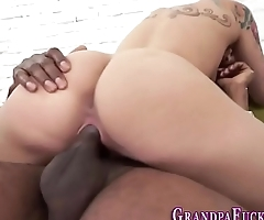 Teen rides old black guy