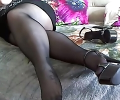 BBW Pantyhose Foot Play