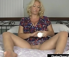 Smoking Milf Charlee Chase Rubs Hitachi On Pussy In Hose!