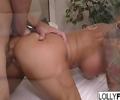 Lolly Ink gets fucked really hard and gets cum