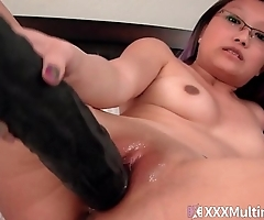 Step Father and son Threesome Double Vag Little Mina