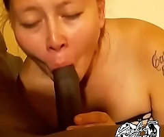 Pokahontas sucks the entire cock and swallows load