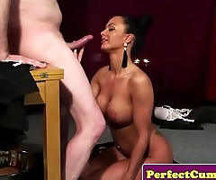 Facial loving beauty blowing dick