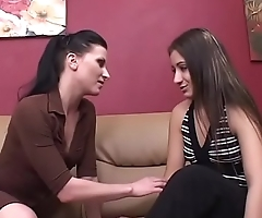 The hot lesbian girls Ariel XXX and Sophia strip nude and kiss pussy in the office