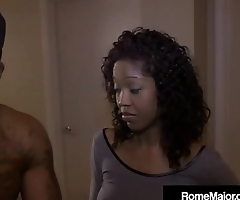 Black Bull Rome Major Does 3 Way with Horny White Girl!