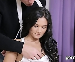 Fervid college girl is seduced and fucked by elderly teacher
