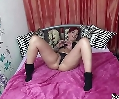 German MILF is Horny and called Friend of Son to Fuck her