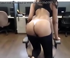 Hot latina in office