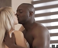 Sexy blonde Euro chick Katy Rose boned by a black dick