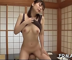 Fascinating japanese darling gives electrifying oral-sex