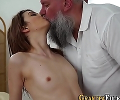 Teen spunked by pervert
