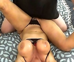 BLONDE BANDITT SURPRISED AFTER MASSIVE ORGASM ON HER BED   FUCKED HARD  SPREAD WIDE OPEN WITH HER HUGE TITS AND HARD NIPPLES VIOLENTLY SHAKING AND BOUNCING