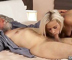 companion&#039_s daughter begs daddy and old guy fucks prostitute