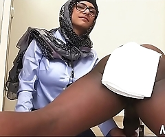 Kinky arab chicks take a lesson on how to perform a sexy blowjob