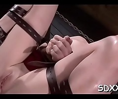 Bawdy slut loves being fucked by hard cock in bdsm style