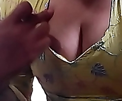 I love teasing my fans by my busty cleavage and pulling my milky tits out by removing the top and make myself nude for you