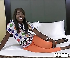 Hot ebony honey takes part in breathtaking interracial sex