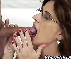 Spex grandma jizzed on