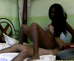 hot skinny ebony teen fucks random stranger