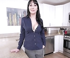 Mom helps with son'_s morning wood!