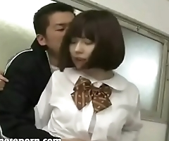Horny school girl fucks her teacher after class