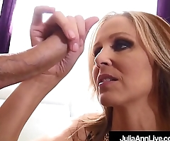 Award Winning Milf Julia Ann Sucks On A Big Hard Cock POV!