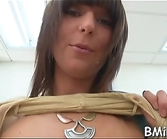 Curious pornstar enjoys subrigid dick in her throat and snatch