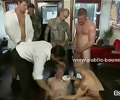 Nordic gay boy shaved and whipped by group of nasty masters in dirty group sex : Denmark Sweden Norway
