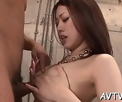 Hunk bangs a lusty asian babe with his magnificent cock