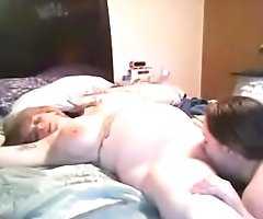 2 pregnant wives licking and sucking threesome