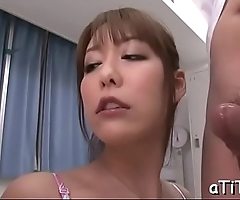 Horny chap gives wet cunnilingus before fucking busty asian