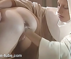 Nuns fuck a priest and themselves