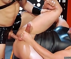 Two Latex Fans Have Anal Sex