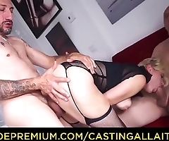 CASTING ALLA ITALIANA - Hot amateur blonde Vittoria Dolce butt fucked in trio